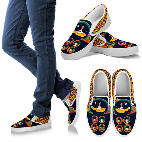 The Beatles Limited Edition Slip Ons For Men D6