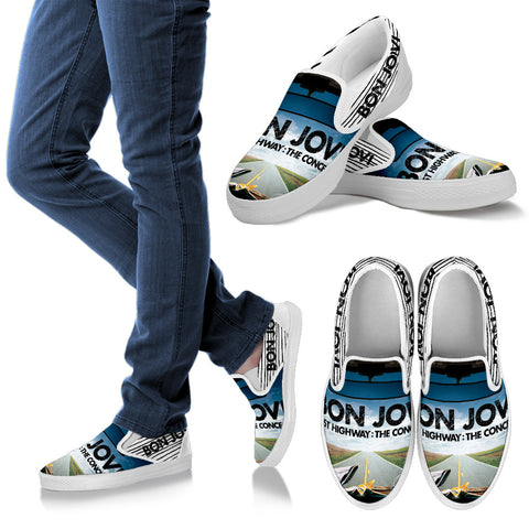 BonJovi Bed Of Roses Slip Ons E