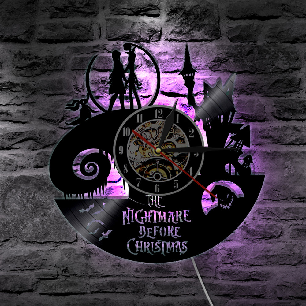 Nightmare Before Christmas LED Vinyl Wall Clock B – Novelty Trends