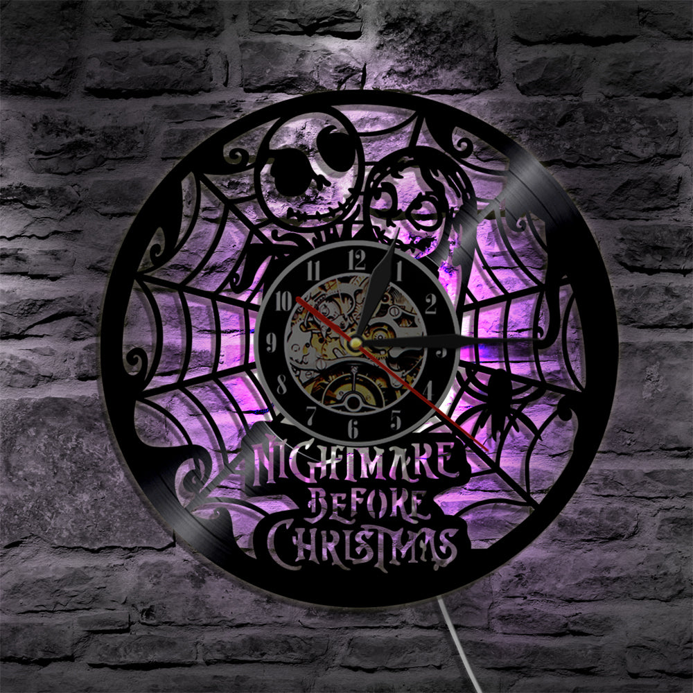 Nightmare Before Christmas LED Vinyl Clock – Novelty Trends