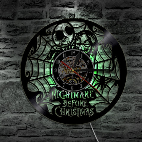 Nightmare Before Christmas LED Vinyl Clock