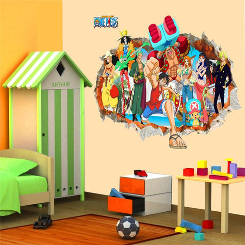 3D One Piece Wall Decals
