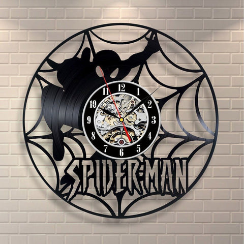 Spiderman Wall Hanging Marvel Comics Vinyl Record Clock
