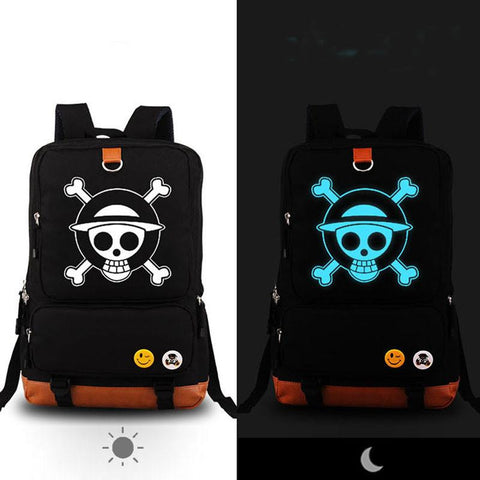 One Piece Luffy Luminous Canvas School Bag