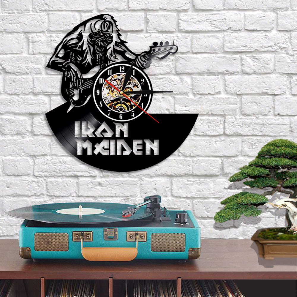 Iron Maiden Art Decorative Wall Clock And Lamp – Novelty Trends