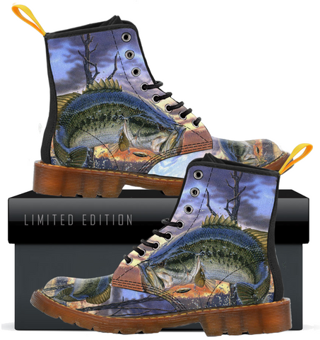 Fishing Lovers Canvas Boots For Men C