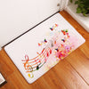 Musical Instruments and Notes Non-Slip Floor Mats