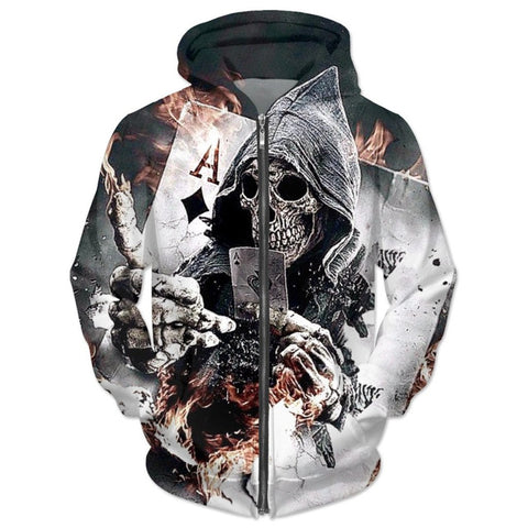 Ace Diamond Skull Hoodies