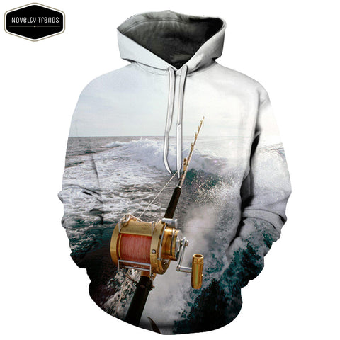 Fishing Lovers Unisex Hoodie M