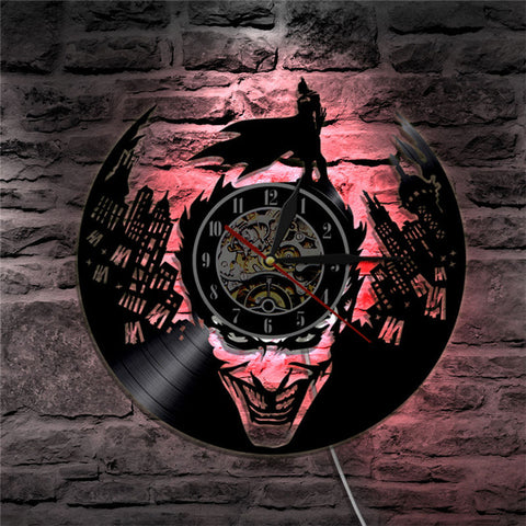 Batman Gotham City Led Vinyl Wall Clock
