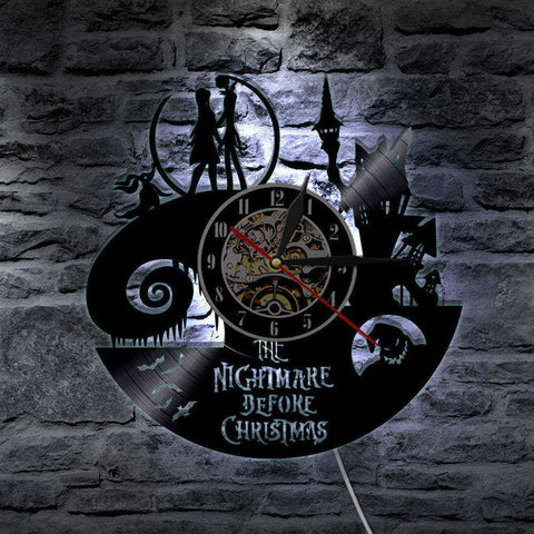 Nightmare Before Christmas LED Vinyl Wall Clock B