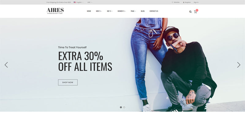 Aires - Premium e-Commerce Shopify Theme
