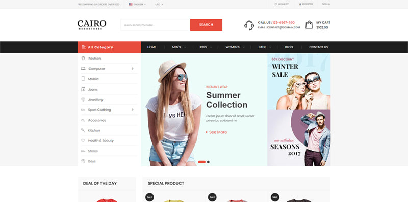 Cairo - The multi-purpose Shopify Theme