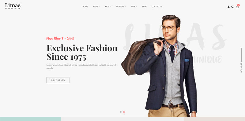 Fashionable Shopify Responsive Theme - Limas