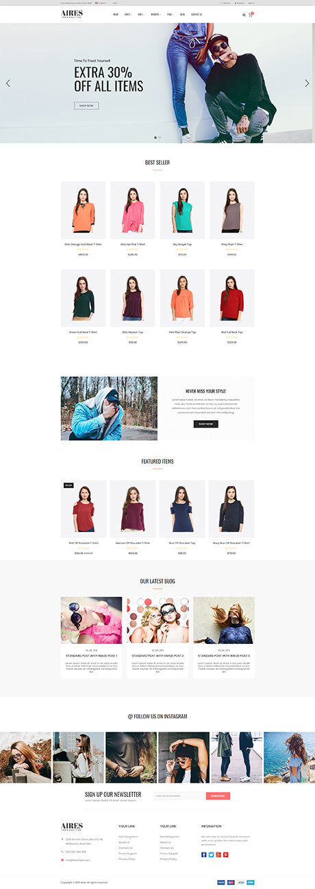 Aires Theme | Shopify Themes