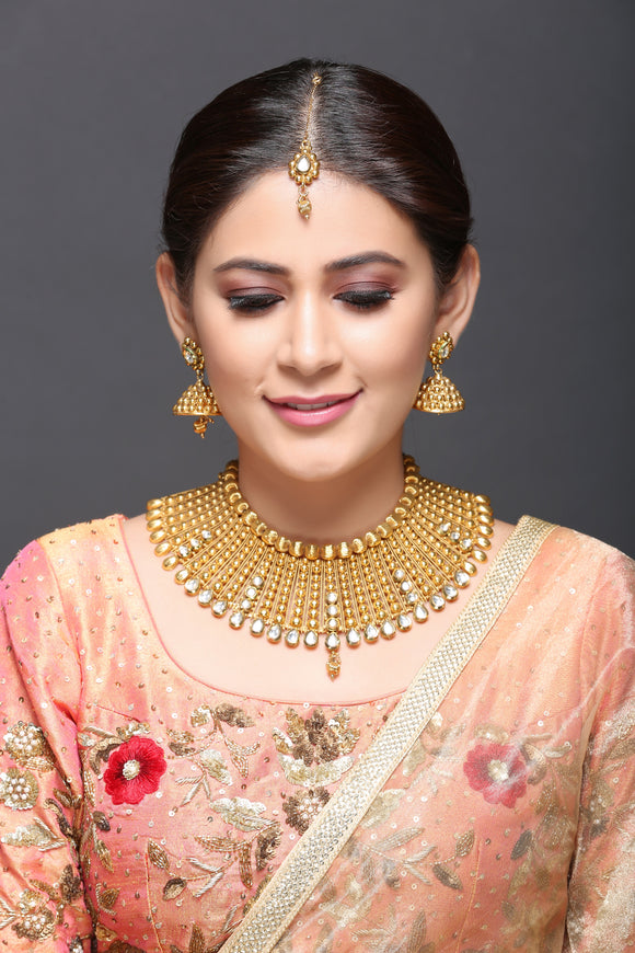 Kundan And Gold Necklace