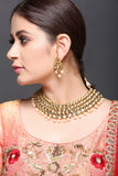 Kundan Necklace With Coffee Pearl Drops