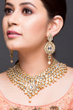 Kundan Necklace With Pearl Drop