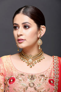 Kundan Drops Necklace With Earrings
