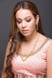 Single Line Kundan Necklace