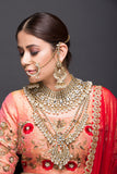 Kundan Bridal Set With Pearls
