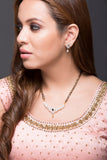 American Diamond classic Mangal Sutra with earrings