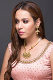 Pearl & Kundan Necklace With Earring