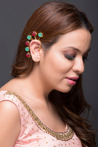 Green And Red Earcuff