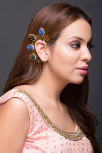 Blue Black Earcuff