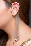 Long Earcuff Hearts