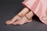 Red & White Stones Anklet