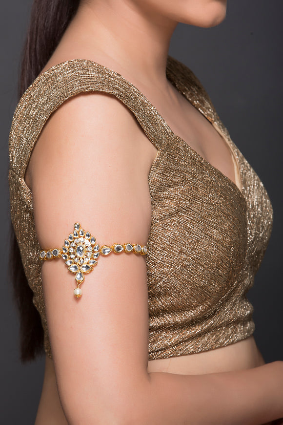 Kundan Baaju Band With Pearl Drop
