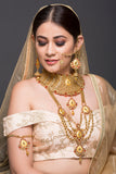 Red Stones Bridal Set