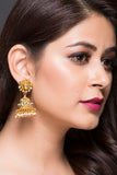 Gold Plated Jhumki For Women With American Diamond CZ