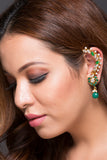 Earring Type Ethinic Earcuff With Imitation Stones & Pearls