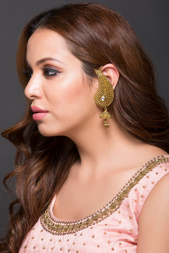 Fashion Earring With Kundan & Jhumki