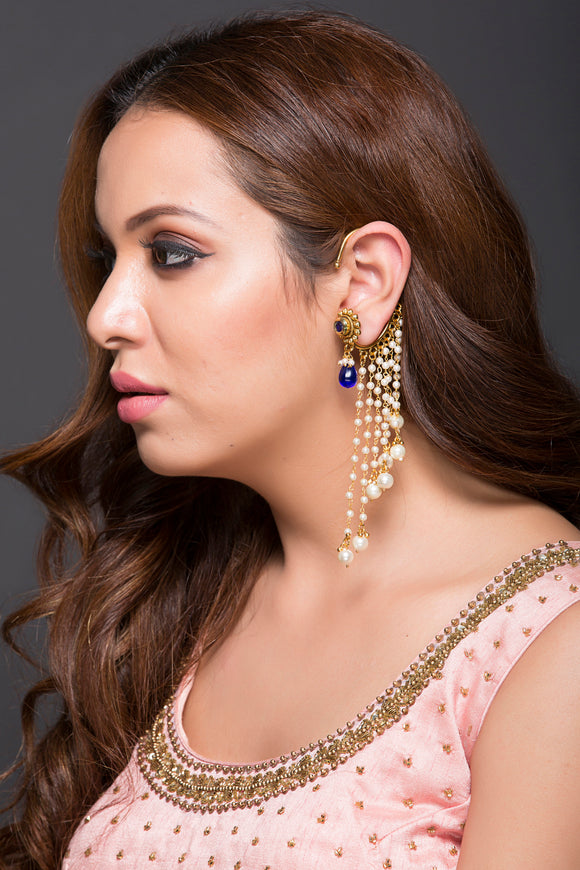 Earcuff With Pearls & Kundan