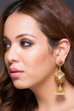 Dholki Earring With Jhumki Drop