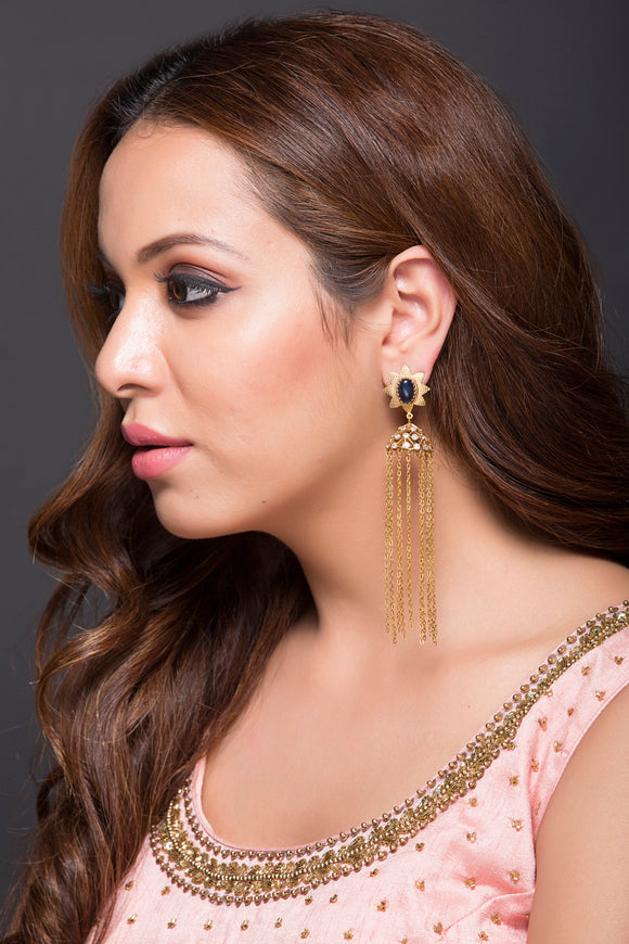 Casual Jhumki With Chain Drops