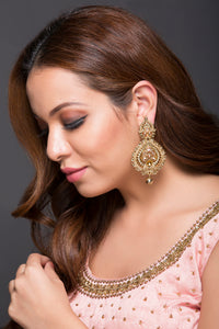 Fashion Earrings With CZ Stones