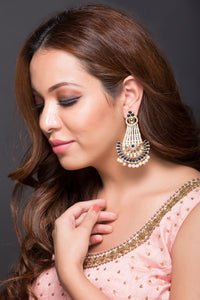 Ethnic Fashion Earring With Pearls & Kundan For Women