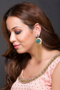 Casual Earring With Chain Drops