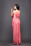 Delicate draping saree gown