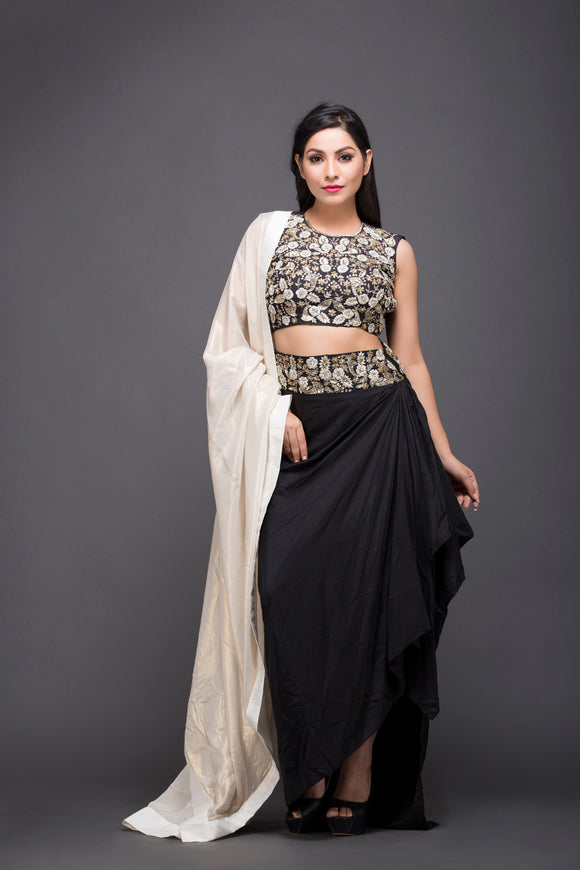 Dhoti style skirt with top
