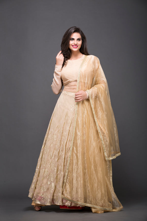 Pin tuck anarkali