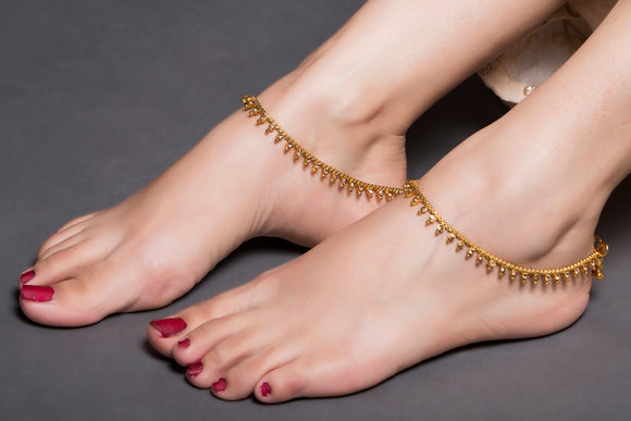 Gold Chain AD Drop Anklet