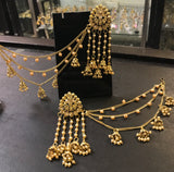 Chandelier latkan earrings