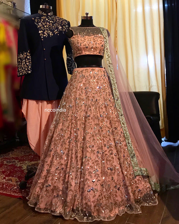 de34600ac60 Couture Bride and Groom outfit – Ricco India