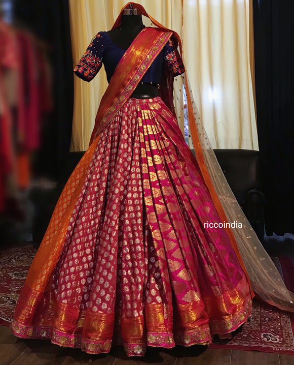 Ball gown benarsi bridal Lehenga