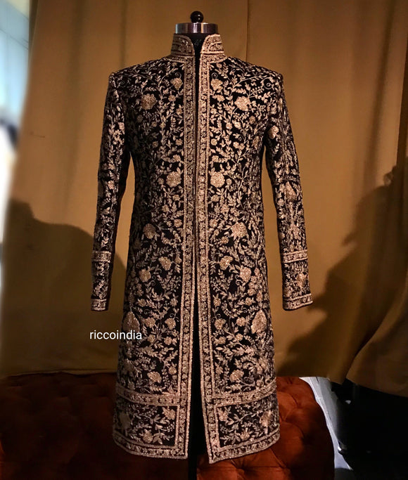 Heavy embroidery dori work sherwani